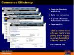 commerce efficiency