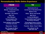 personalization shifts online experience