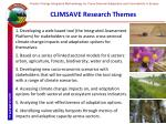 climsave research themes