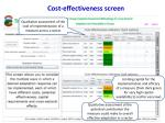 cost effectiveness screen