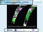 example products aatsr