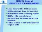 marpol annex vi proposals for amendments
