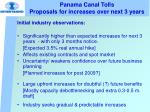 panama canal tolls proposals for increases over next 3 years