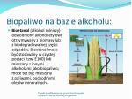 biopaliwo na bazie alkoholu
