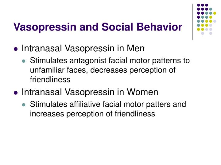 Vasopressin and Social Behavior