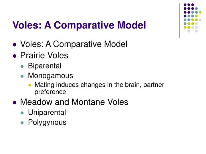 Voles: A Comparative Model