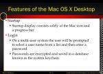 features of the mac os x desktop