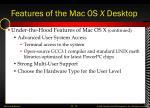 features of the mac os x desktop10