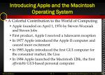 introducing apple and the macintosh operating system