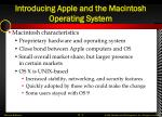 introducing apple and the macintosh operating system1