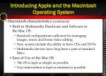 introducing apple and the macintosh operating system2