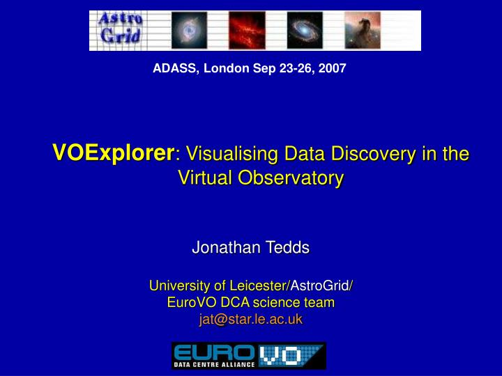 voexplorer visualising data discovery in the virtual observatory n.