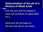 determination of the ph of a mixture of weak acids