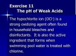 exercise 11 the ph of weak acids
