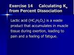 exercise 14 calculating k a from percent dissociation