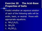 exercise 20 the acid base properties of salts