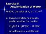 exercise 5 autoionization of water
