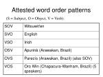 attested word order patterns