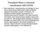 prezydent nixon o interesie narodowym usa 1970