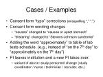 cases examples