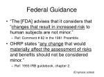 federal guidance