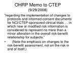 ohrp memo to ctep 9 29 2008