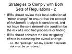 strategies to comply with both sets of regulations 2