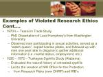 examples of violated research ethics cont1