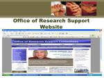 office of research support website