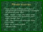 p rodn rezervace