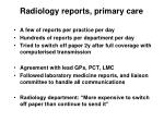 radiology reports primary care