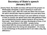 secretary of state s speech january 2013