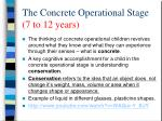 the concrete operational stage 7 to 12 years