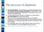 the processes of adaptation1