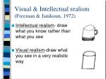 visual intellectual realism freeman janikoun 1972