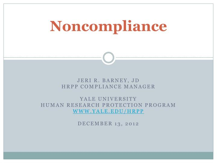 noncompliance n.