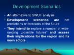 development scenarios