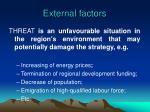 external factors1