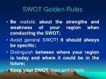 swot golden rules
