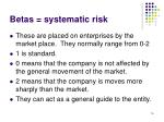 betas systematic risk