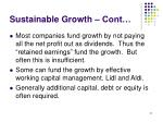 sustainable growth cont
