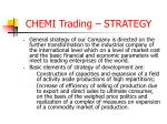 chemi trading strategy