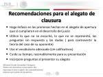 recomendaciones para el alegato de clausura