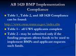 ab 1420 bmp implementation compliance