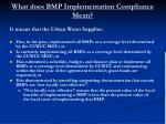 what does bmp implementation compliance mean