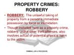 property crimes robbery
