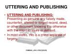 uttering and publishing