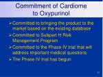 commitment of cardiome to oxypurinol
