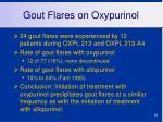 gout flares on oxypurinol