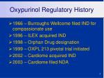 oxypurinol regulatory history